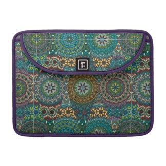 Vintage patchwork with floral mandala elements sleeves for MacBooks