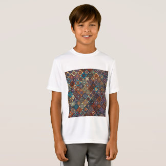 Vintage patchwork with floral mandala elements T-Shirt