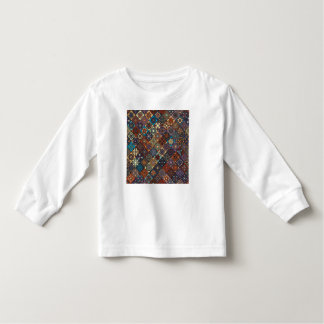 Vintage patchwork with floral mandala elements toddler t-shirt