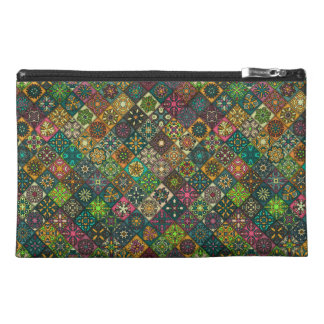 Vintage patchwork with floral mandala elements travel accessories bags