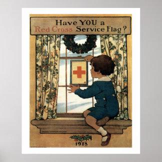 Vintage Patriotic 1918 Art Print Poster