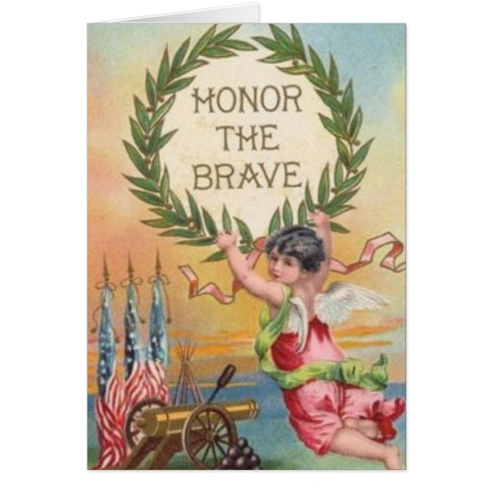 Vintage Patriotic Angel Card
