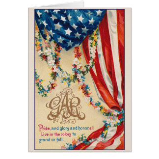 Vintage Patriotic GAR Grand Army Of Republic Card