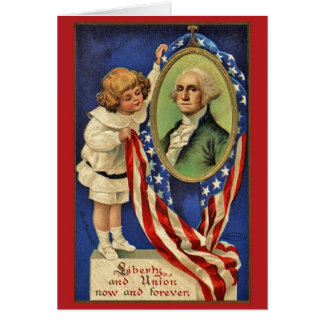 Vintage Patriotic George Washington Card
