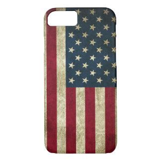 Vintage Patriotic Grunge USA American Flag Case-Mate iPhone Case