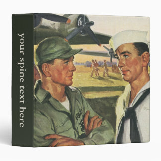 Vintage Patriotic Heroes, Military Personnel Vinyl Binder