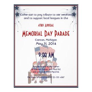 Vintage Patriotic Kids Memorial Day Full Color Flyer
