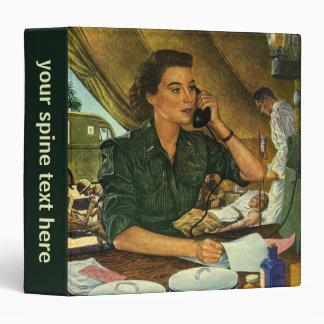 Vintage Patriotic, Medical Nurse on Phone Binders
