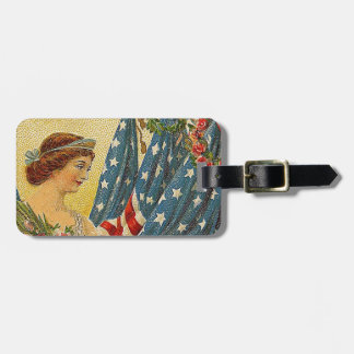 Vintage Patriotic Memorial Day Luggage Tag