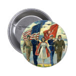 Vintage Patriotic, Military Personnel Pinback Buttons