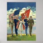 Vintage Patriotic, Military Personnel Poster