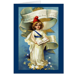 VIntage Patriotic Note Card