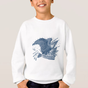 Vintage Patriotic Screaming Eagle USA Flag Arrows Sweatshirt