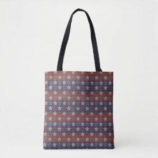 Vintage Patriotic Stars Tote Bag
