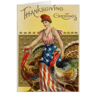 Vintage - Patriotic Thanksgiving, Card