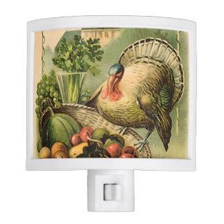 Vintage Patriotic Thanksgiving Turkey Night Light