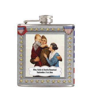 vintage patriotic usa veteran customizable flask