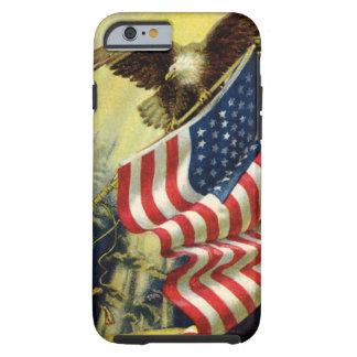 Vintage Patriotism, Patriotic Eagle American Flag Tough iPhone 6 Case