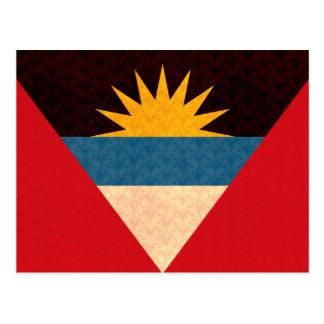 Vintage Pattern Antiguan Flag Postcard