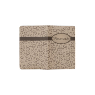 Vintage Pattern Customizable Pocket Notebook