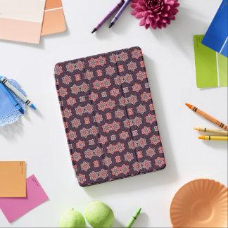 Vintage Pattern Dark Purple Flowers Blue Pink iPad Air Cover