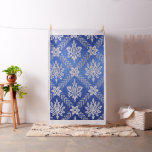 Vintage Pattern Fabric Blue