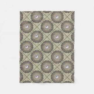 vintage Pattern Fleece Blanket
