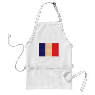 Vintage Pattern French Flag Standard Apron