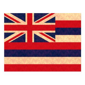 Vintage Pattern Hawaiian Flag Postcard