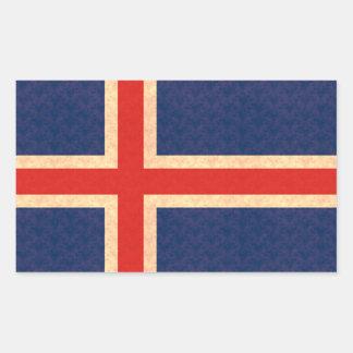 Vintage Pattern Icelander Flag Sticker