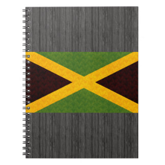 Vintage Pattern Jamaican Flag Notebook