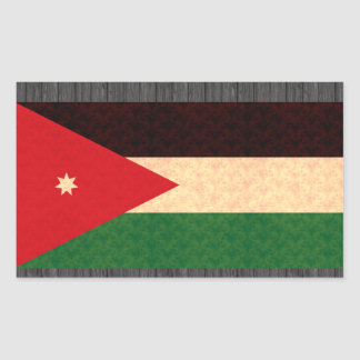 Vintage Pattern Jordanian Flag Sticker