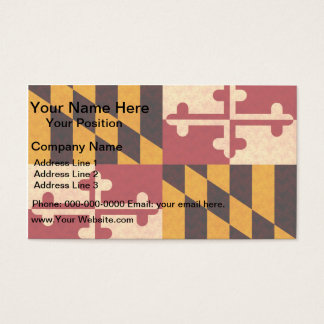 Vintage Pattern Marylander Flag Business Card