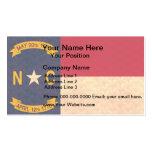 Vintage Pattern North Carolinian Flag Pack Of Standard Business Cards