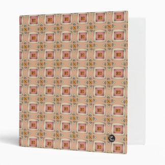 Vintage Pattern Peach Binder