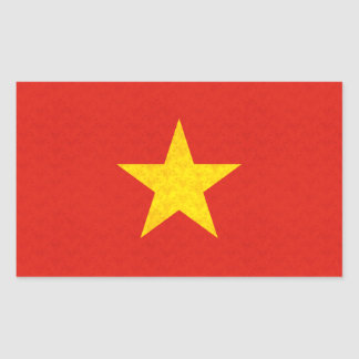 Vintage Pattern Vietnamese Flag Sticker