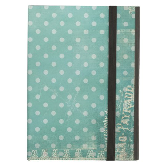 Vintage Patterned Turquoise Wallpaper iPad Air Cases