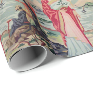 Vintage PBN Asian woman wrapping paper