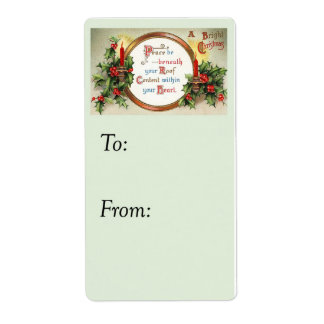 Vintage Peace on Earth Gift Tag Shipping Label