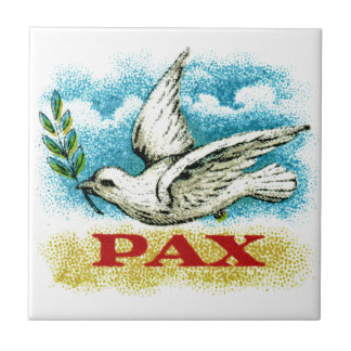 Vintage Peace on Earth Tile