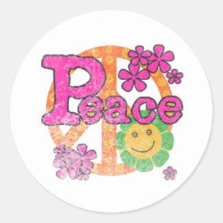 Vintage Peace Round Sticker