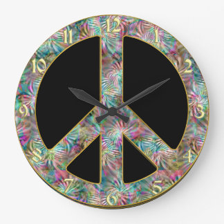 Vintage Peace Sign Clock