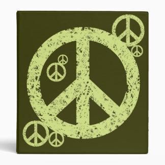 Vintage Peace Signs 3 Ring Binders