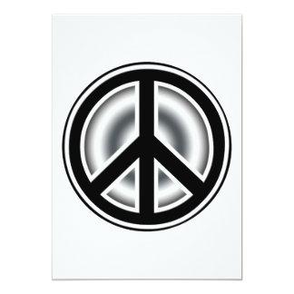 Vintage peace symbol personalized announcement