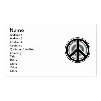 Vintage peace symbol pack of standard business cards