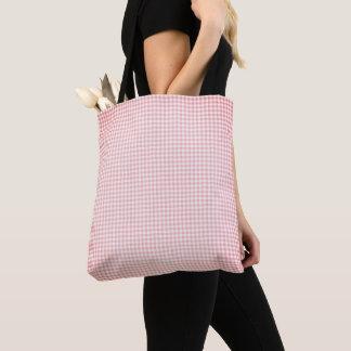 Vintage_Peach__Gingham_Plain & Simple-Totes-Bags Tote Bag