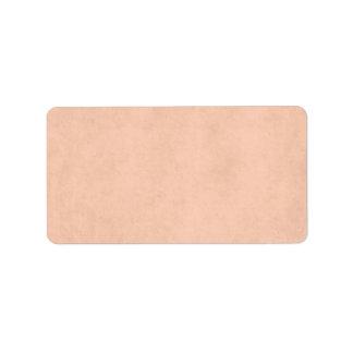 Vintage Peach Parchment Antique Paper Template Label