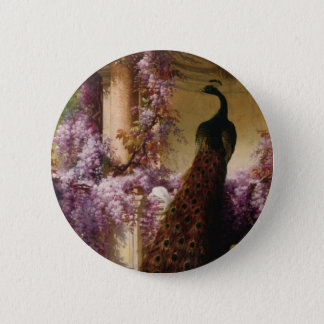 Vintage Peacock 2 Inch Round Button