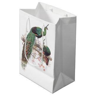 Vintage Peacock Birds Wildlife Animals Gift Bag