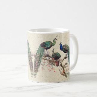 Vintage Peacock Birds Wildlife Animals Mug